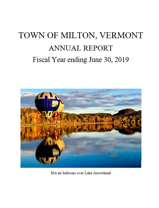 FY2019 Town Report