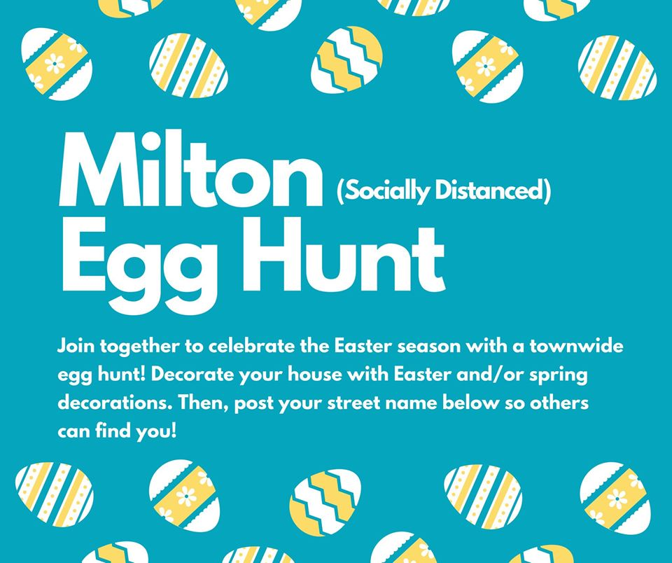 Milton Egg Hunt Socially Distanced