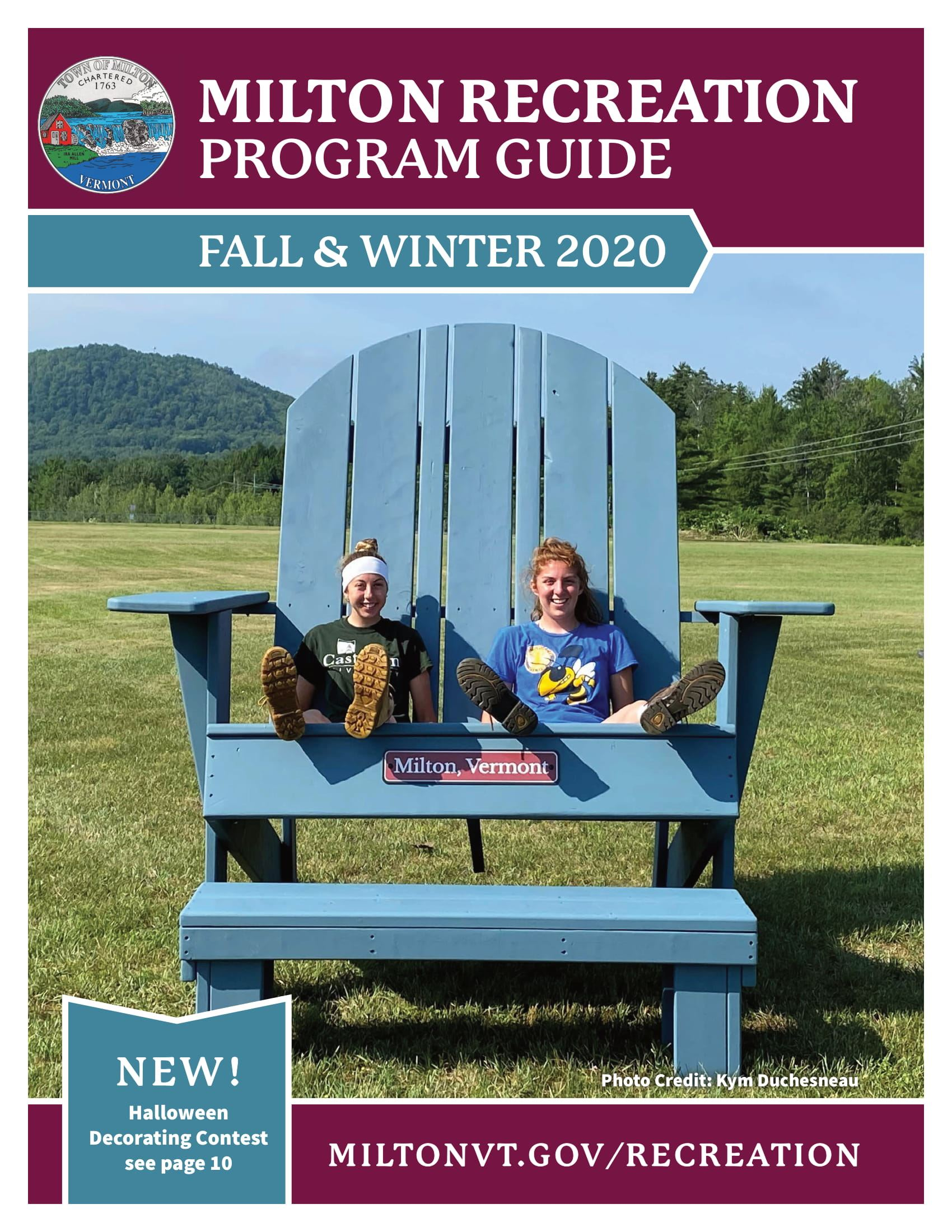 Cover Milton Rec Fall and Winter 2020 Program Guide FINAL